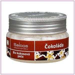 Bio kokosová péče Saloos Čokoláda okouzlující kompozice z kokosového oleje a extraktu z kakaových bobů pro hýčkání vašeho těla i duše.