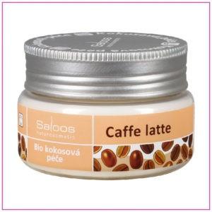 Bio kokosová péče Saloos Caffe latte relaxační přírodní produkt z bio kokosového oleje a extraktu z kávových bobů povzbudí a zregeneruje unavenou pleť i mysl.