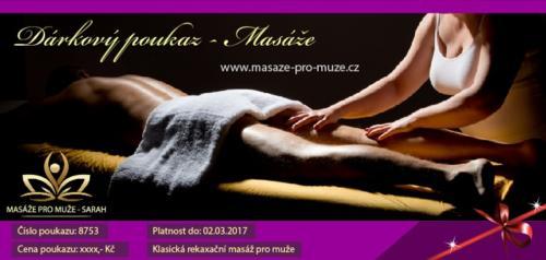 Dárkový poukaz masáže pro muže ve městě Jihlava.