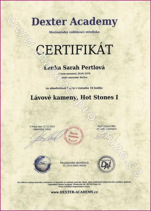Certifikát-Lávové kameny